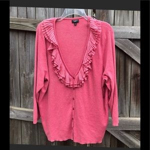 Button down long sleeve sweater size 3X